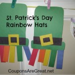 st. patrick's day craft rainbow hats for kids
