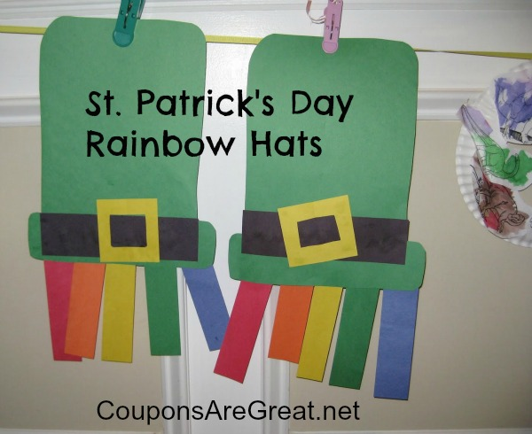 St patrick 39 s day crafts rainbows and hats for St patrick day craft ideas