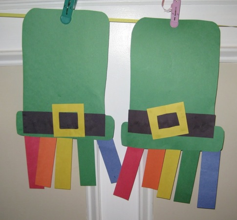 st patrick s day crafts rainbows and hats