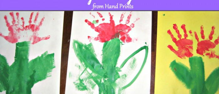 Tulip Hand Print Bouquet for Mother's Day