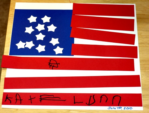 american flag tube kite