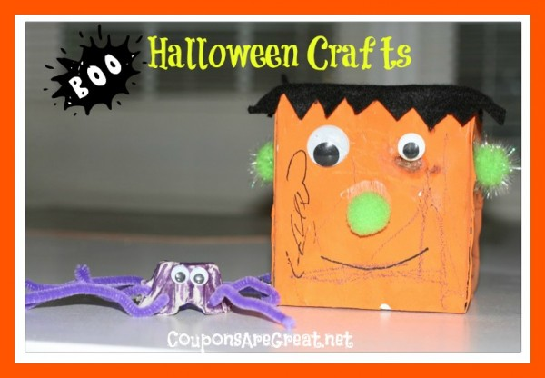 Halloween Crafts for Kids  Egg Carton Spider and Frankenstein  Halloween Crafts 12 Year Olds
