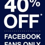 Save 40% In-Store at Gap from March 8 to 11 (Facebook Offer)