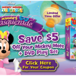 Mickey Mouse Clubhouse: Minnie's Masquerade + Mickey Mote Available Today