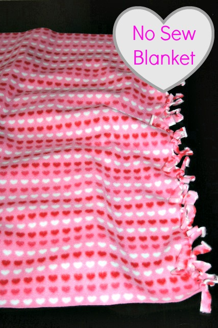 Valentine S Fun Diy No Sew Fleece Blanket