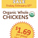 Whole Foods One Day Sale: Organic Chicken $1.69/lb