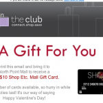 Free $10 Shop Etc. Mall Gift Card for Valentine's Day!