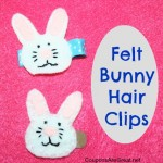 Crafty Tuesday: Felt Bunny Hair Clips