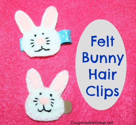 These felt bunny hair clips are not hard to make and they will get so many compliments!