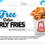 Arby's: Free Curly Fries Today!