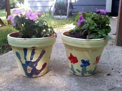 Teacher Planted Pots