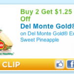 $1.25 off 2 Del Monte Pineapples Produce Coupon