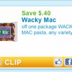 Wacky Mac Printable Coupon