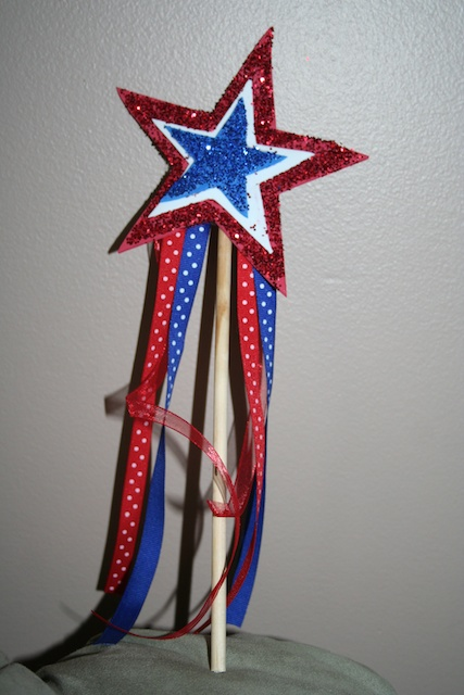 Thi star spangled wand is perfect for 4th of July parades and more!