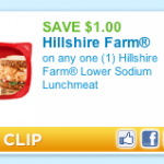 Save $1.00/1 Hillshire Farm Lower Sodium Lunch Meat (Only $2.28 after coupon at Walmart)