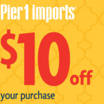 Free $10 off $10 Purchase to Pier One