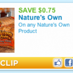 75¢ Nature's Own Printable Coupon – Great Deal at Publix