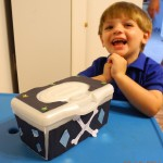 pirate ship box from diaper wipes