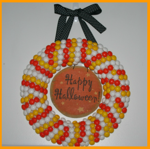 if - Halloween Candy Wreath