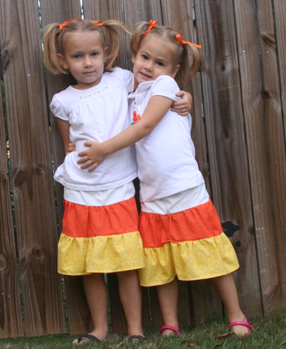 candy corn skirts