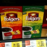 Get a Box of 7 Folgers Single Serve Instant Coffee for $0.65
