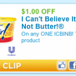 Printable I Can't Believe It's Not Butter Coupons