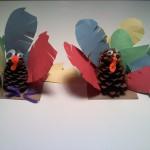 Crafty Tuesday 11/15/11:  Pine Cone Turkey