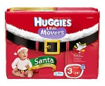 Huggies Little Movers Santa Diapers $3.00/pack 12/9 and 12/10 only!