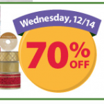 Save 70% on Holiday Ribbon at Michael's