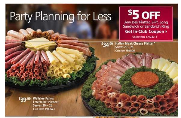 Save 5 On Any Deli Platter 3 Ft Long Sandwich Or