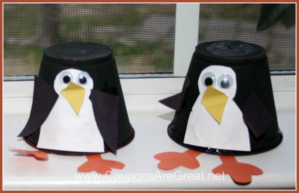 penguin cup craft