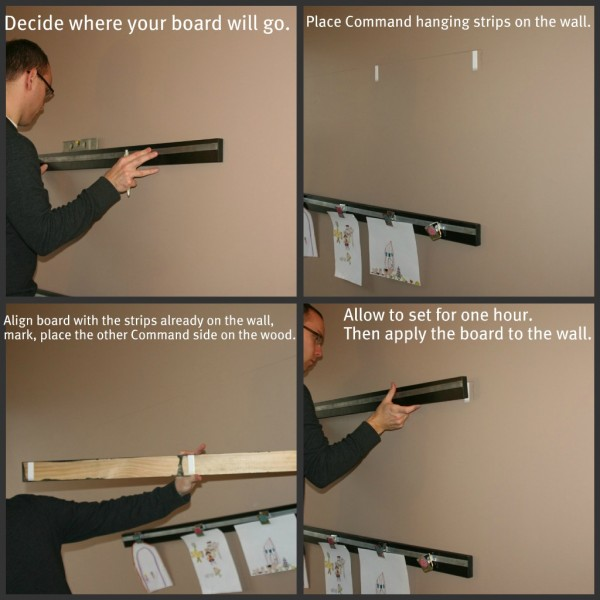 How to Apply Boards to the Wall without screws or nails