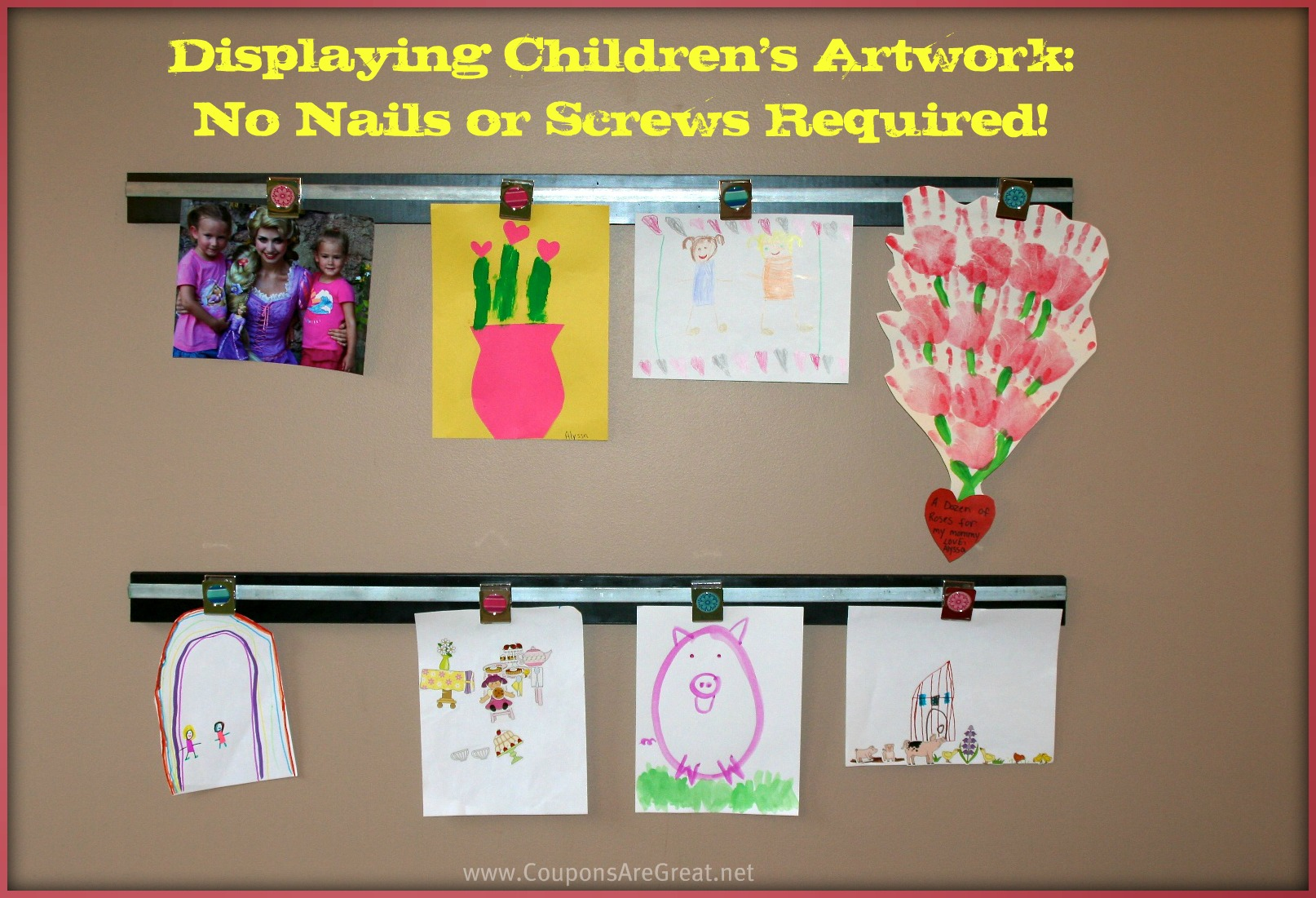 Displaying Children 39 S Art Work How To Make A Wooden Wall