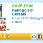 Hot Printable Coupon: $5.00/5 Kellogg's Cereal!  Perfect for Publix 50% Sale!