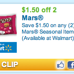Hot Coupon Alert: $1.50/2 Mars Seasonal Items + Walgreens Scenario