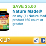 Hot Coupon: Save $5.00 on Nature Made Vitamins (Won't Last Long!)
