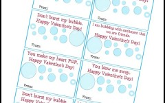 A Great Alternative to Candy – Bubbles for Valentine's Day (Including Tag PDF)