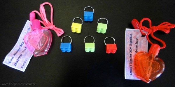 Lego Rings are easy to make for Valentine's Day, party favors, or just because!