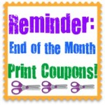 Print The End of the Month Manufacturer's Coupons NOW!