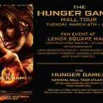THE HUNGER GAMES ATLANTA MALL TOUR FLYER