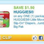 Printable Huggies Little Mover Coupon + Walgreens Deal