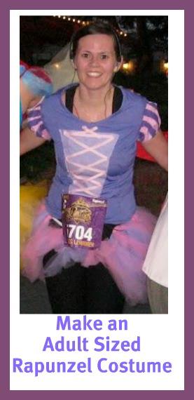 make an adult sized rapunzel costume