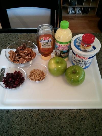 Bunny Salad ingredients.......