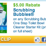 Scrubbing Bubbles $5 Coupon + $5 Rebate and a FREE Publix Deal!
