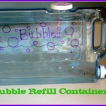 water container for bubbles