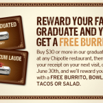 chipotle graduation offer