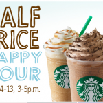 Half Off Starbucks Frappuccinos in the Afternoon!