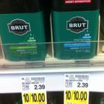 Kroger Shoppers: Free Brut Deodorant