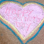 happy fathers day chalk heart