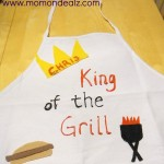 Father's Day Craft Idea: King of the Grill Apron!